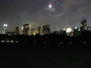 Night skyline from Central Park
