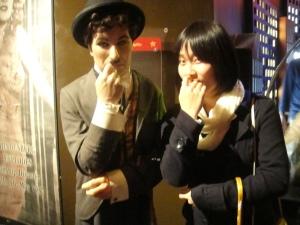 Li Chen and Charlie Chaplin.